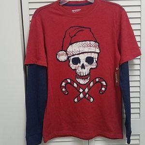 Arizona Jean Co Skull Christmas Shirt